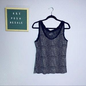 LOFT | Black & White sleeveless Cami | Size Medium